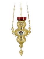 Vigil Lamp Corfu Design No3 Enamel Eagle Gold Plated