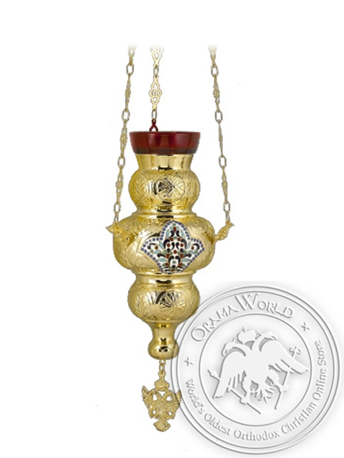 Vigil Lamp Corfu Design No3 Heart Enamel