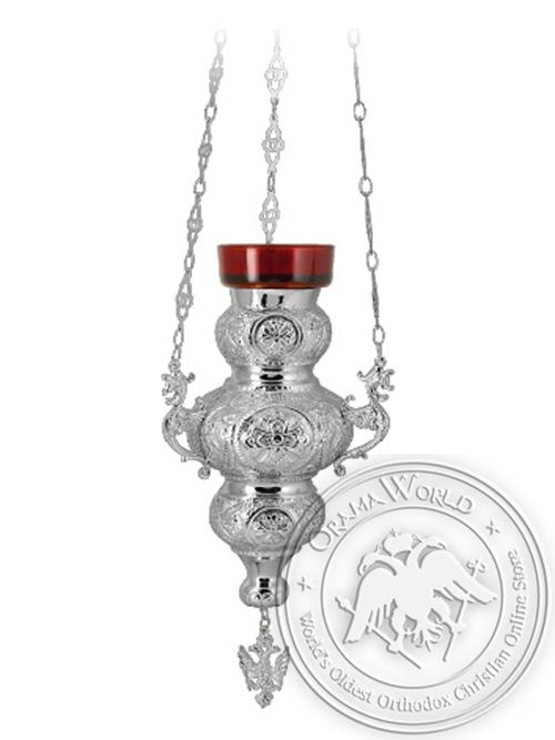 Vigil Lamp Corfu Design No3 Silver Plated