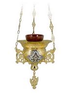 Vigil Candle Byzantine Design No4 Heart Enamel
