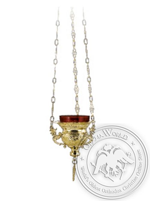 Vigil Candle Byzantine Design No1 Gold Plated