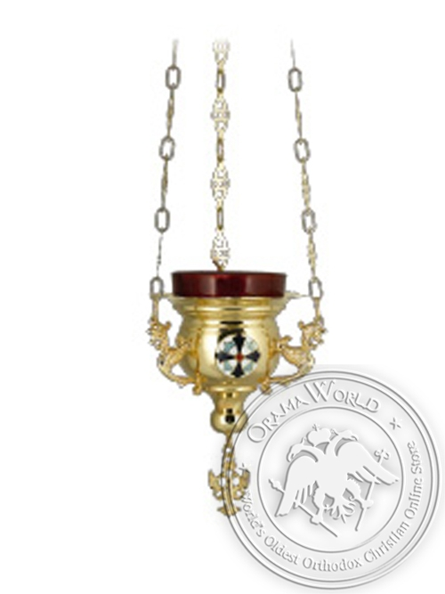 Vigil Candle Byzantine Design No1 Little Enamel