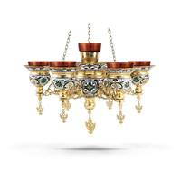 Multi Vigil Candle No7 Enamel Electric Byzantine