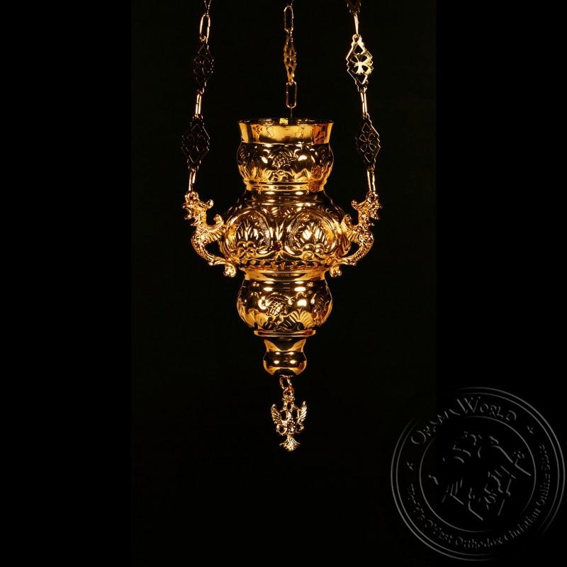 Vigil Lamp Corfu Design Small with Stones - 1002-05