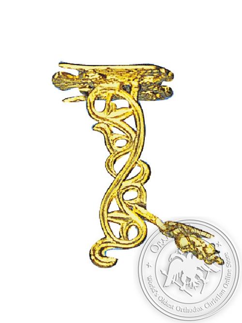 Hook Aluminium B Gold Plated