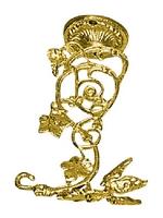 Hook Bronze D Gold Plated