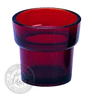 Oil Candle Glass Replacement Cup Delta Natural Red