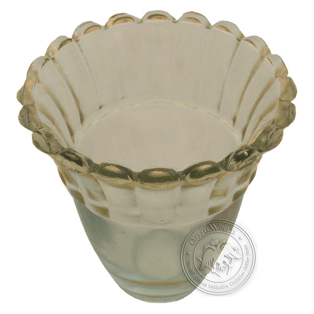 Oil Candle Glass Replacement Cup Flower A Clear