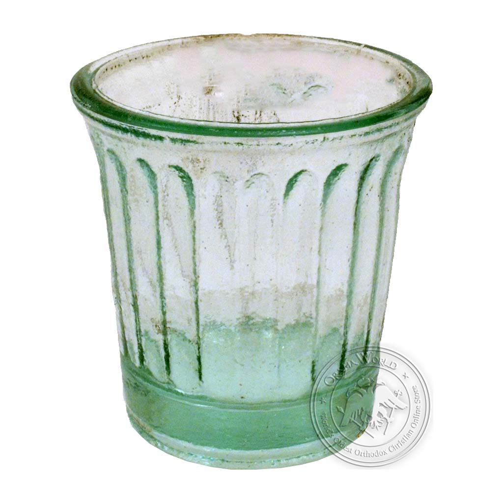 Oil Candle Glass Replacement Cup Inlined Clear