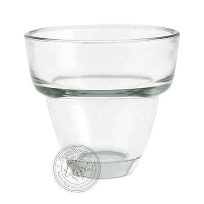 Oil Candle Glass Replacement Cup Clear Large