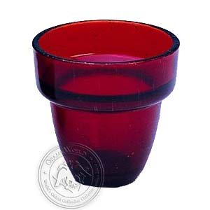 Oil Candle Glass Replacement Cup Natural Red Small