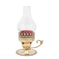 Byzantine Brass Home Oil Lamp - H139