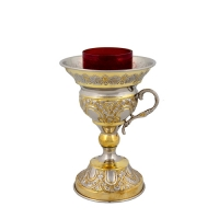 Byzantine Brass Two Coloured Home Oil Lamp - H150