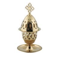 Byzantine Brass Home Oil Lamp - H89