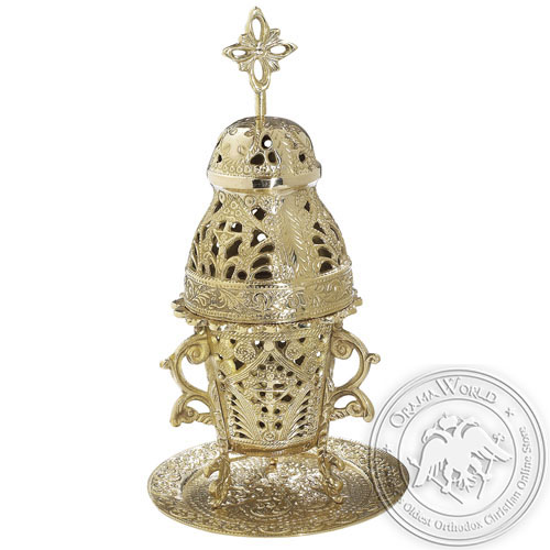 Byzantine Brass Home Oil Lamp - H108