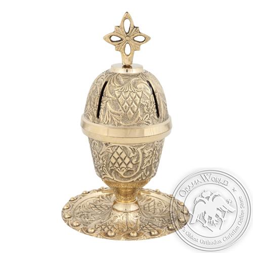 Byzantine Brass Home Oil Lamp - H113