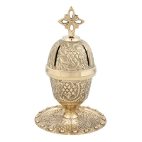 Byzantine Brass Home Oil Lamp - H113