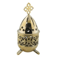 Byzantine Brass Home Oil Lamp - H90