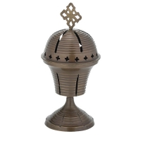 Byzantine Brass Antique Home Oil Lamp - H133