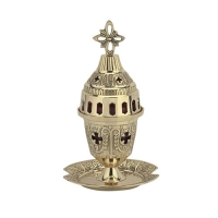 Byzantine Brass Home Oil Lamp - H97