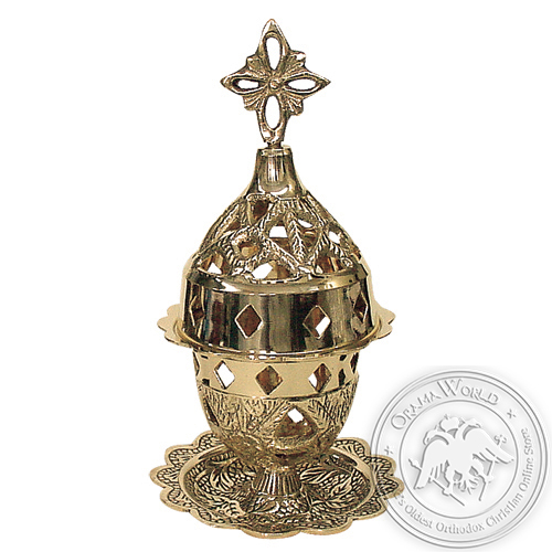 Byzantine Brass Home Oil Lamp - H119