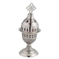 Byzantine Nickel Home Oil Lamp - H124
