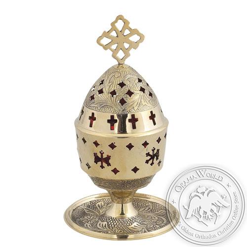 Byzantine Brass Home Oil Lamp - H114
