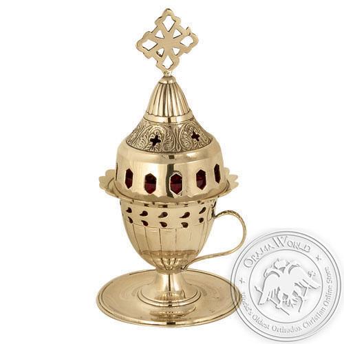 Byzantine Brass Home Oil Lamp - H88
