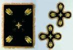 Velvet Cover Set with Byzantine Eagle Black