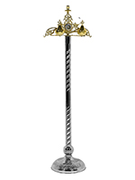 Byzantine Torch Brass with Enamel