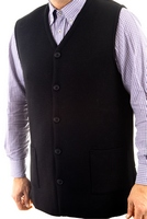 Men's Hieratical Wool Vest with Thick Knitting and V-Neck