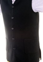 Women's Hieratical Wool Vest with Normal Knitting and V-Neck