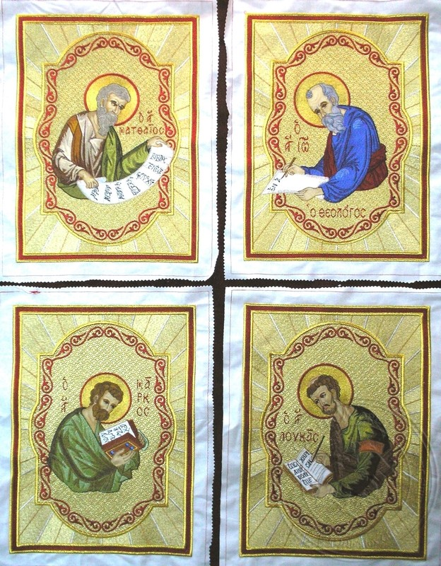 The Evangelists with Background Embroidered - Hieratical Pads Mantle