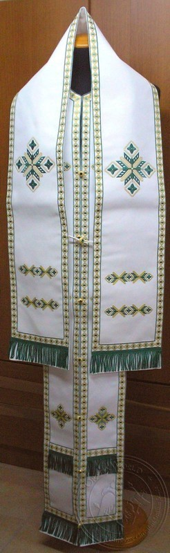 Etamin with Chevron Embroidered - Hieratical Omophorion Epitrachelion