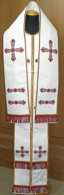 Saint John with Chevron Embroidered - Hieratical Omophorion Epitrachelion