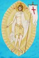 The Risen Christ with Background Embroidered - Hieratical Pole