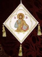 Jesus Enthroned - Hieratical kneepiece