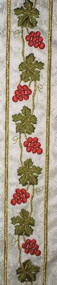 Vineyard in Red and Green Color - Hieratical Galloon