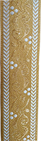 Stem Design in Gold and White Color - Hieratical Galloon