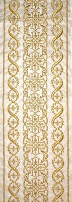 Golden Crosses with Flowers in White Color - Hieratical Galloon