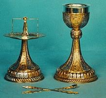 Chalice Set Mount Athos Design 3 Engraved