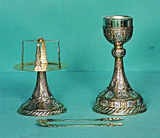 Chalice Set Mount Athos Design 1 Engraved