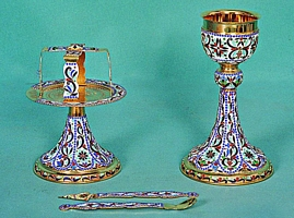 Chalice Set Mount Athos Design 1 with Enamel