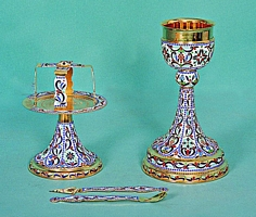 Chalice Set Mount Athos Design 2 with Enamel