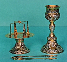 Chalice Set Russian Two Color Design Small Size
