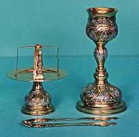 Chalice Set Byzantine Design 2 Engraved