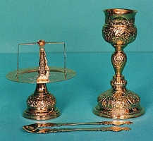 Chalice Set Byzantine Design 4 Engraved