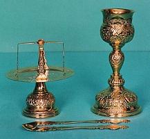 Chalice Set Byzantine Design 4 Engraved