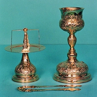 Chalice Set Byzantine Design 6 Engraved