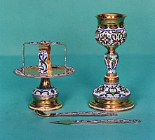 Chalice Set Byzantine Design 1 with Enamel